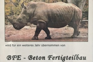 "<div class=""bildtext_en"">For several years, BFE has been the sponsor of ­Numbi, the rhinoceros, at the Erfurt Zoo</div>"