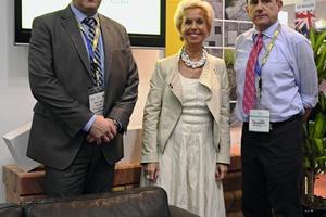 "<div class=""bildtext_en"">Olga Vercammen (2nd from left), owner of Masa, General Sales Director Frank Reschke (on the left) and Area Sales Manger Shahryer Djaff</div>"