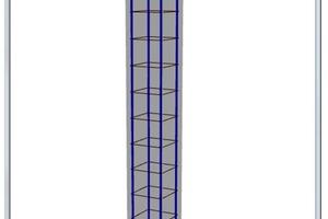 """<div class=""""bildunterschrift_en"""">The reinforcement of columns with BETON Columns shown in 3D-rendering </div>"""