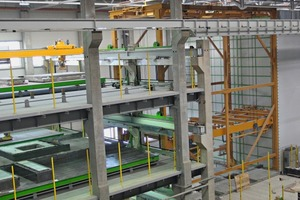 """<div class=""""bildtext_en"""">Three pallet circulation systems of Sommer Anlagentechnik GmbH are usedfor the production of wall panels and floor slabs</div>"""