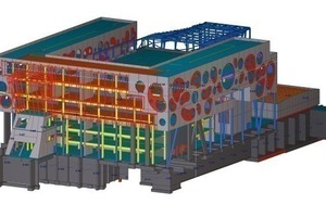 Overall view of the building in the BIM<br />