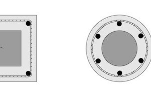 """Fig. 9 """"CC column"""" – possible design variety of the UHPC core."""