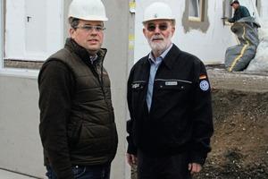 "<div class=""bildtext_en"">Dipl.-Ing. Martin Hachmeister, general manager and owner of Betonwerk Heinrich Hachmeister Andernach GmbH (left), and Dipl.-Ing. Peter Görgen, THW, developed together the version 1.0 of the Concrete Shelter </div>"