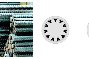 Fig. 4 Application of conventional and alternative rebar diameters.