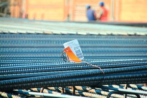 """<div class=""""bildtext"""">Sülzle Stahlpartner lieferte fast 27.500 t Bewehrungsstahl """"just in time"""" auf die Baustelle</div>"""