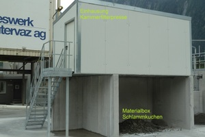 Einhausung und Materialbox