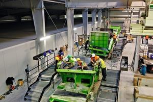 """<div class=""""bildtext"""">Tübbingproduktion für den 8.806m langen Boßlertunnel: Das bewährte System der Umlauffertigung mit Equipment von Herrenknecht Formwork bietet höchste Zuverlässigkeit</div>"""