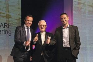"<div class=""bildtext_en"">Patrik Heider, spokesman of the board and Chief Financial &amp; Operations Officer of the Nemetschek Group, Prof. Georg Nemetschek, founder and member of the supervisory board of the Nemetschek Group, Ing. Werner Maresch, General Manager of Precast Software Engineering GmbH (left to right)</div>"