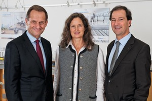 Left to right: Alfons Hörmann (Chairperson of the Supervisory Board), Felicitas Schöck (Deputy Chairperson), Dr. Christof Maisch (new supervisory board member)