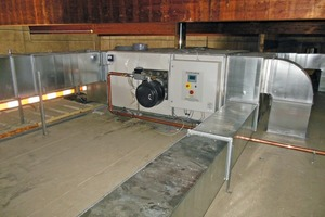"""<div class=""""bildtext_en"""">The new heating system at Idealbeton is installed on the roof of the curing chamber </div>"""