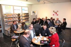 Im BFT Café konnten sich die Gäste informieren über das breite Zeitschriftenangebot des Bauverlags mit mehr als 20 nationalen und internationalen Zeitschriften und über das Online-Portfolio