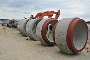 """<div class=""""bildtext_en"""">The wastewater manual of the airport specifies very high requirements onthe reinforced concrete pipes which are used in building here</div>"""