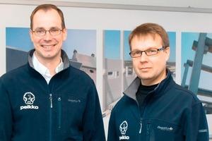 """<span class=""""bildunterschrift_hervorgehoben"""">Abb. 1</span> Neuer leitender Geschäftsführer Topi Pannanen (l.) und Raimo Lehtinen, neuer Direktor Verankerungsprodukte.<br />"""