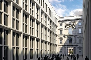 → Façade with Florentine ambience, the Schlossforum