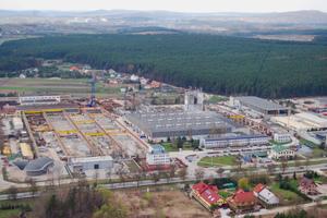 """<div class=""""bildtext"""">Firmenzentrale der Przedsie˛ biorstwo Elementów Budowlanych Fabet S. A. im polnischen Kielce</div>"""