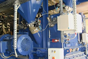 There is a lot of space on the new mixer platform due to the compact design of the twin-shaft batch mixer